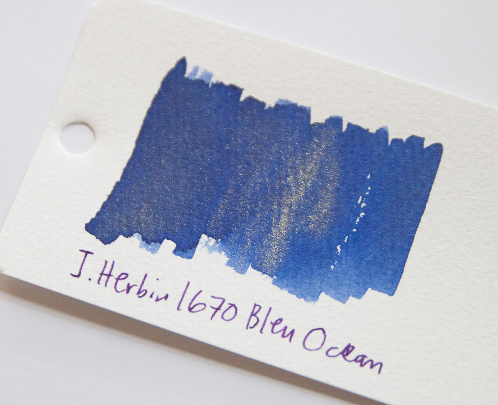 J. Herbin !670 bleu ocean with gold flecks