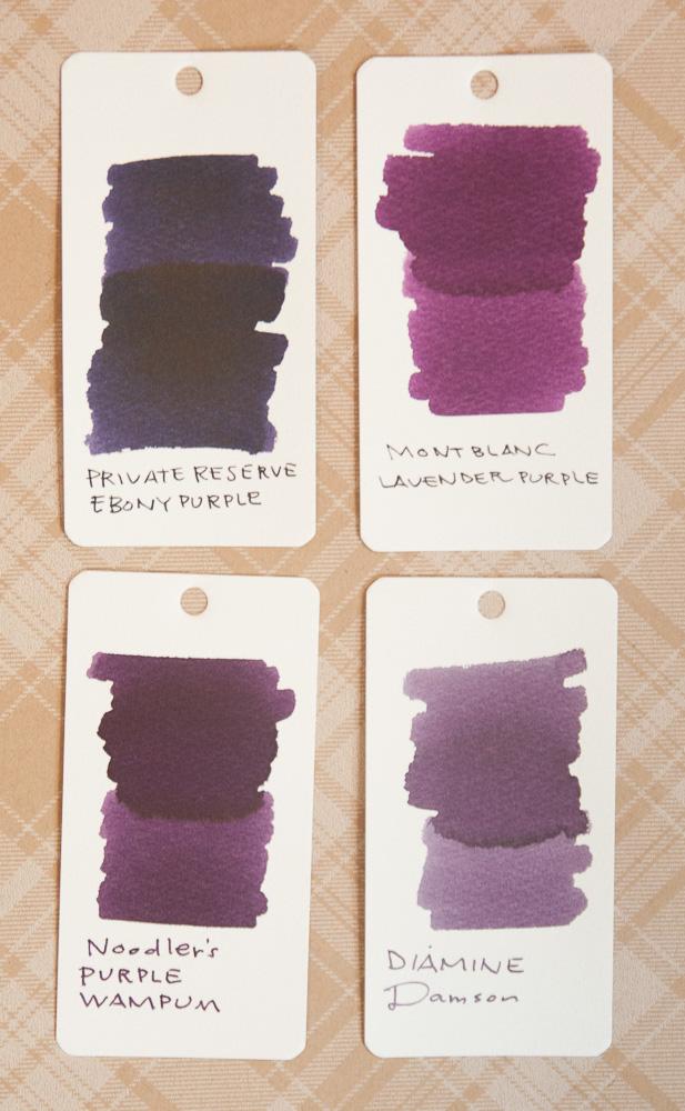 Private Reserve Ebony Purple Swab Comparison