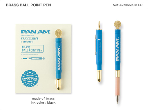 MTN Pan Am Edition Brass Bullet Pen