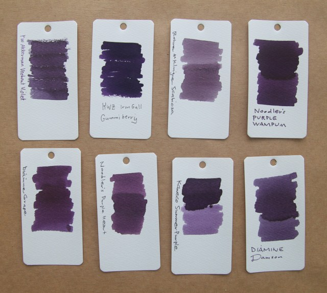 KWZ Iron Gall Gummiberry Ink Comparison