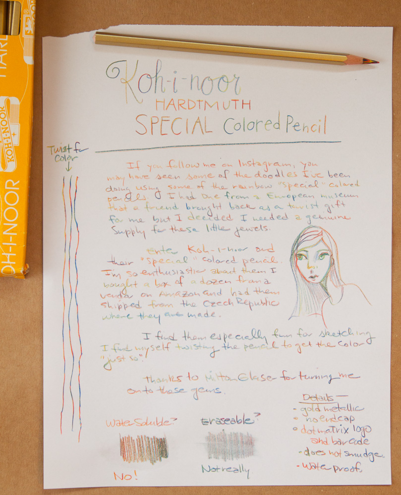 Kohn-i-noor Special MAGIC Colored Pencil writing sample