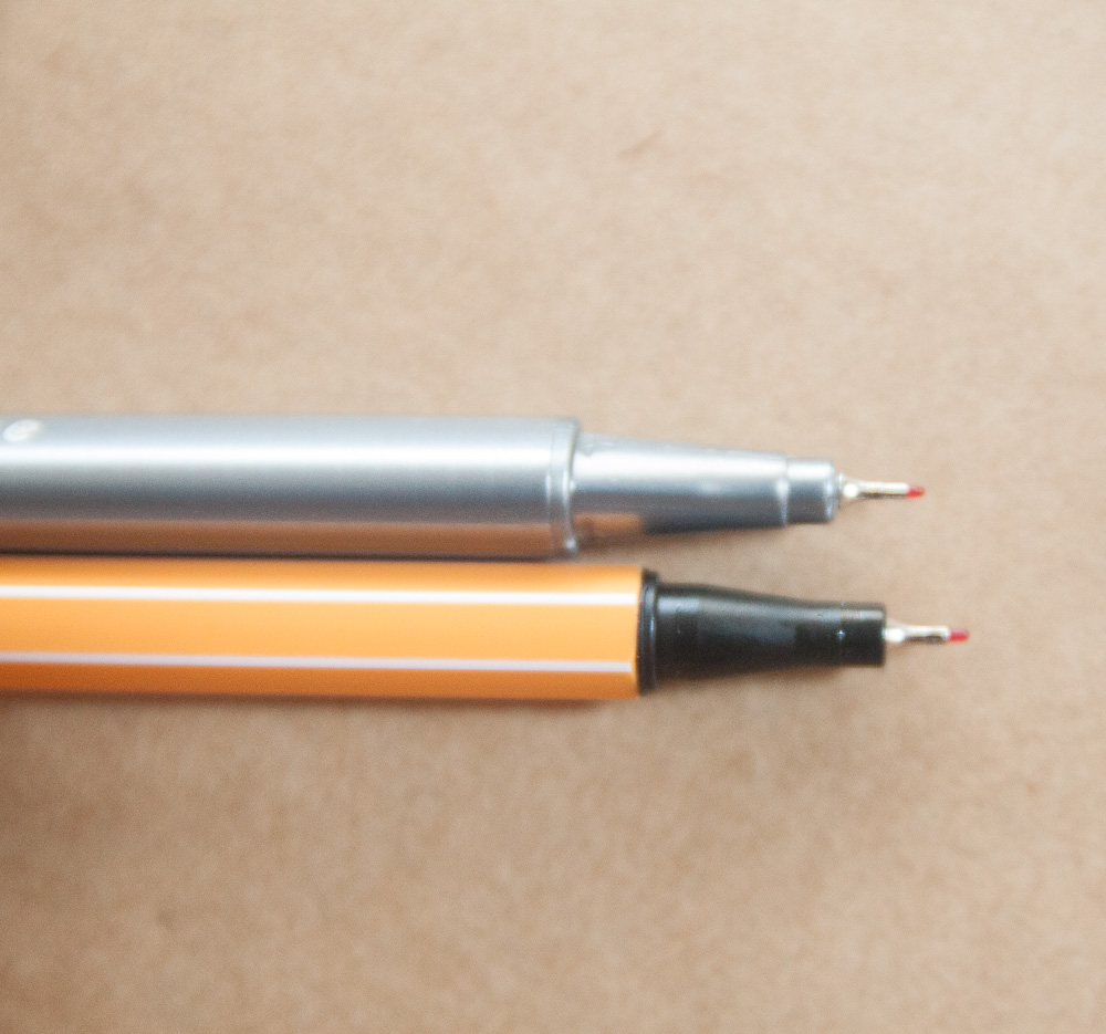 Staedtler Triplus Fineliner vs. Stabilo Point 88 0,4