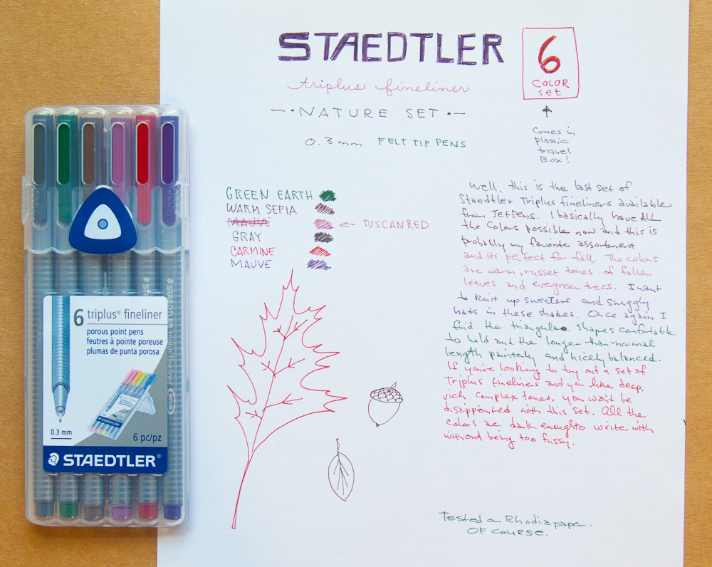 Staedtler nature colors triplus fineliner markers