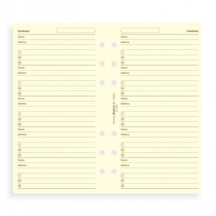 Filofax Cotton Cream Address Pages