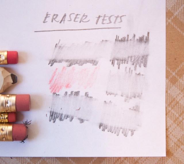 Pencil Factory Nashville Pencil Set Eraser Test