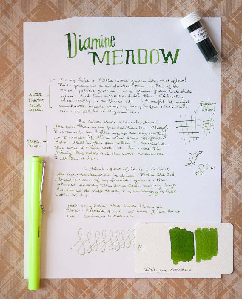 Diamine Meadow Ink