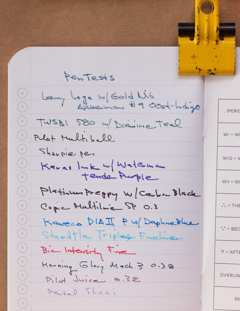 Word Notebooks: Dot Grid and Declan writing samples
