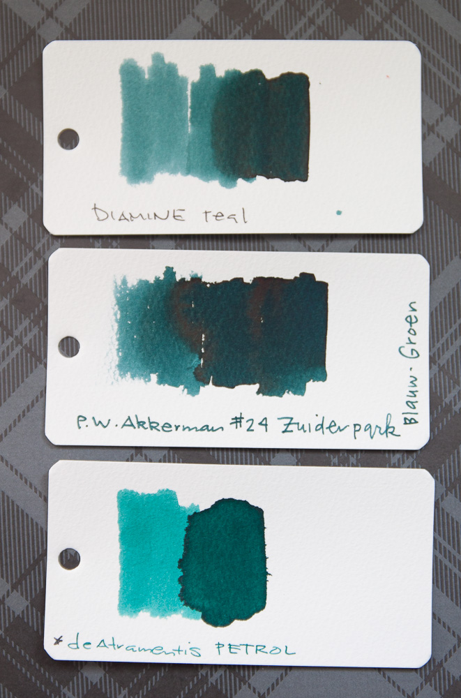 Diamine Teal Swab comparison