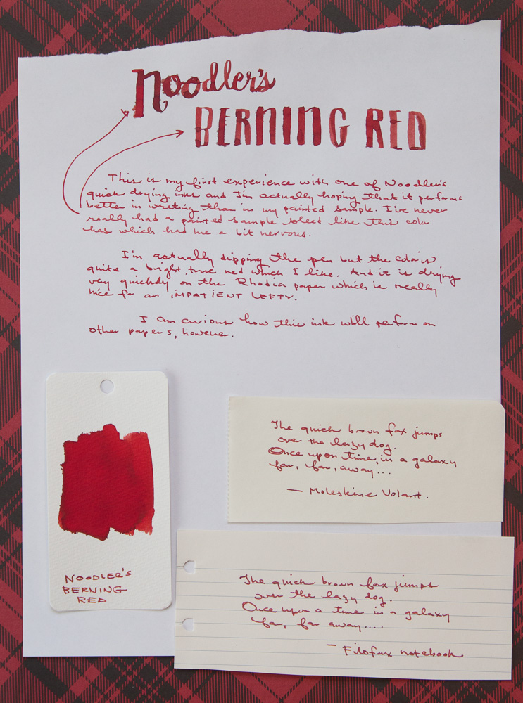 Noodler's Berning Red ink writing sample