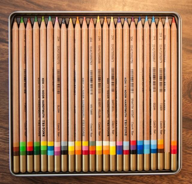 Koh-i-noor tri-tone colored pencils