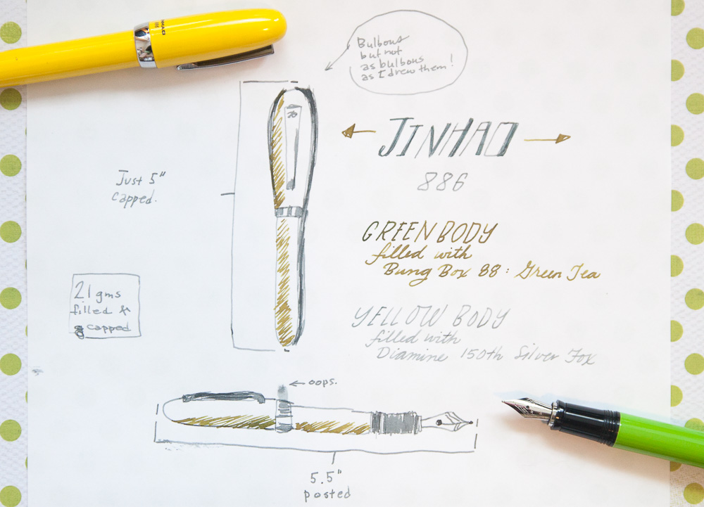 Jinhao 886 fountain pens