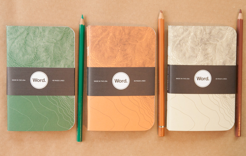 Word Terrain Series Notebooks
