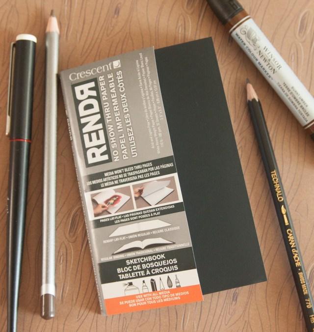 Crescent Rendr No Show Sketchbook