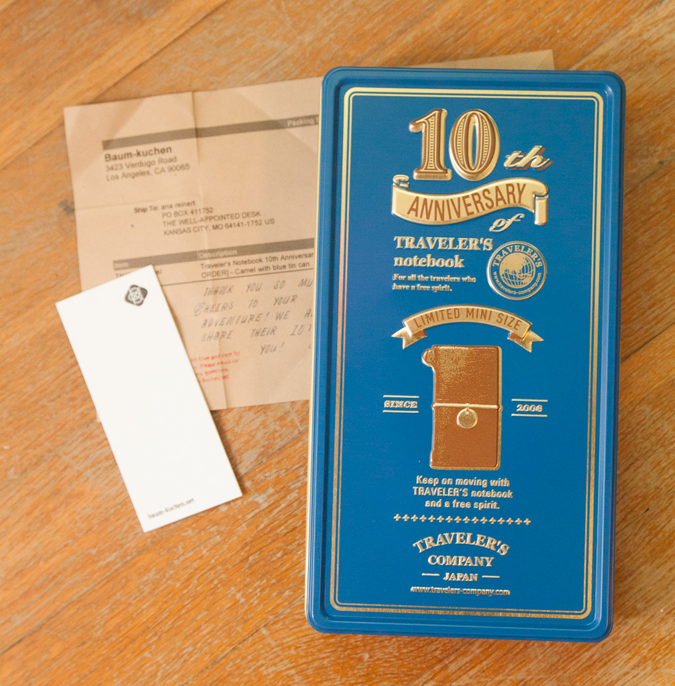 10th Anniversary Traveler's notebook mini
