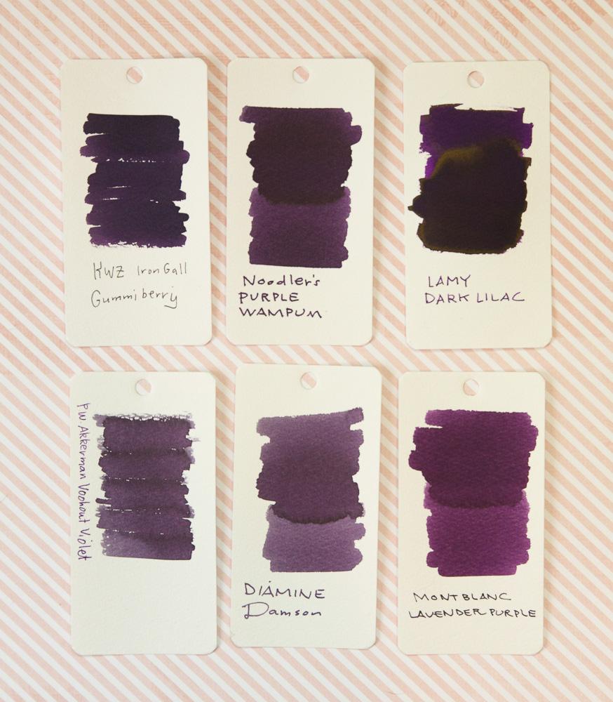 Lamy Dark Lilac Ink Comparison
