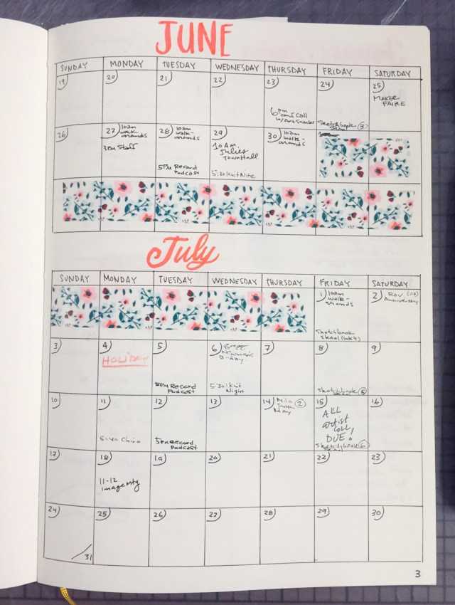 Midori MD Notebook Monthly Bullet Journal