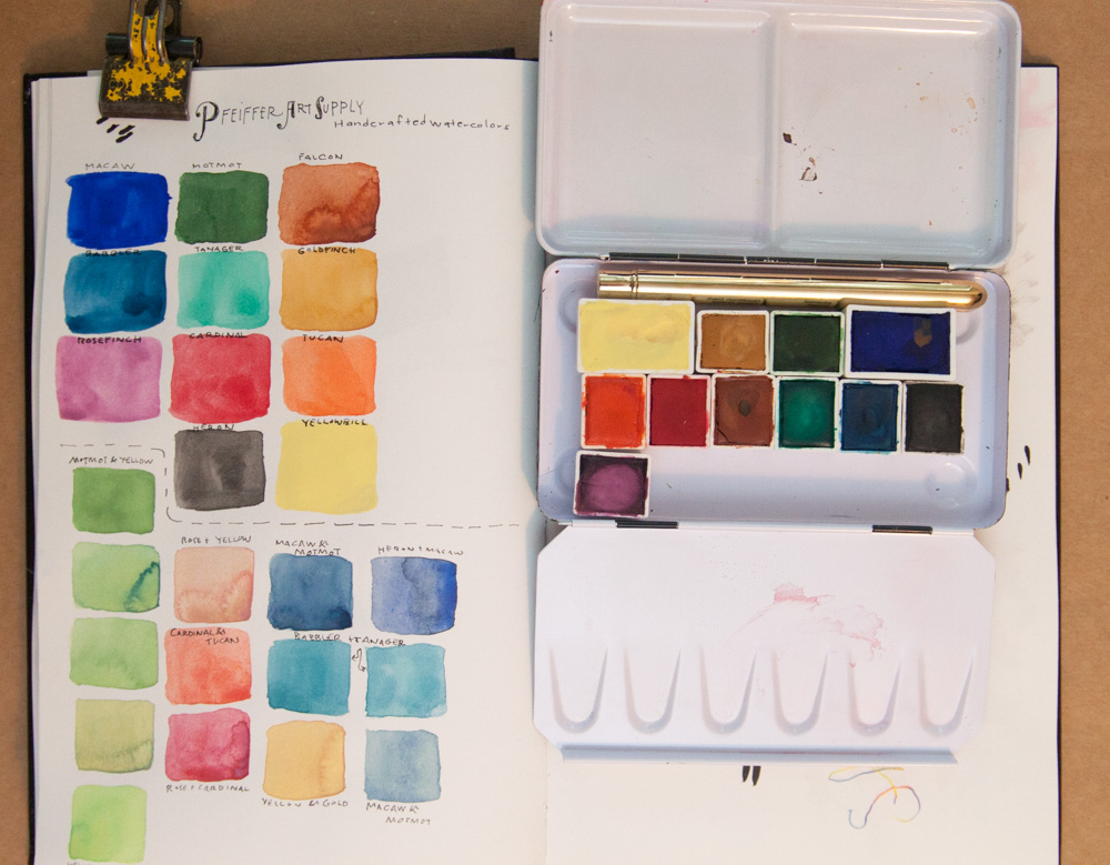 Pfeiffer Watercolor Pan Paints