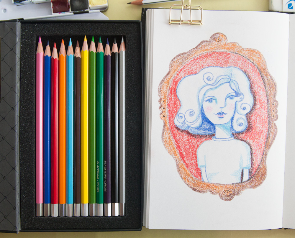 Image result for drawings with blackwing colors