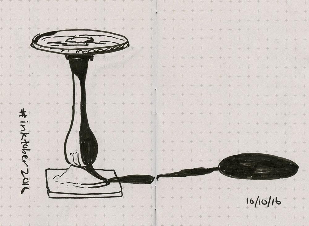 Zebra black body Brush Pen on Lunacy Field Notes