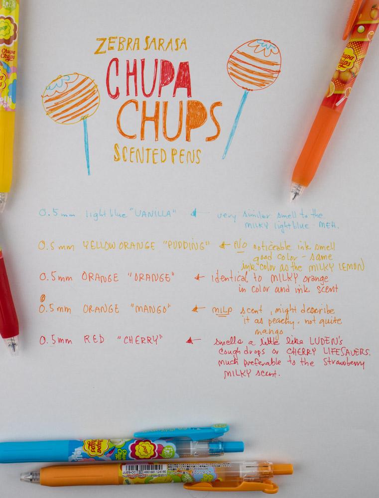 Zebra Sarasa Chupa Chups Writing Samples