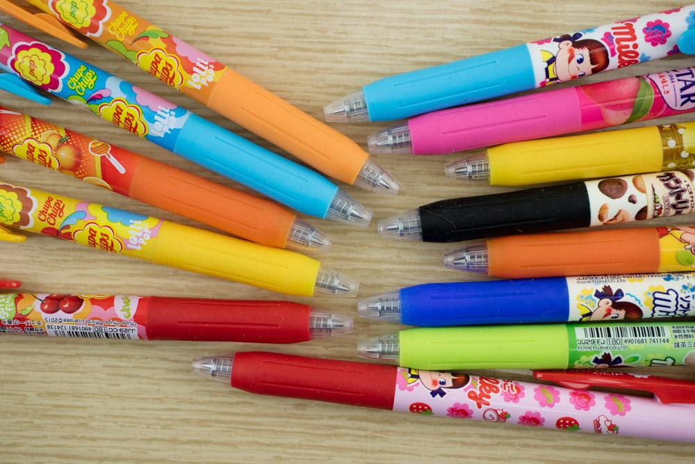 Zebra Sarasa Chupa Chups and Milky Pens