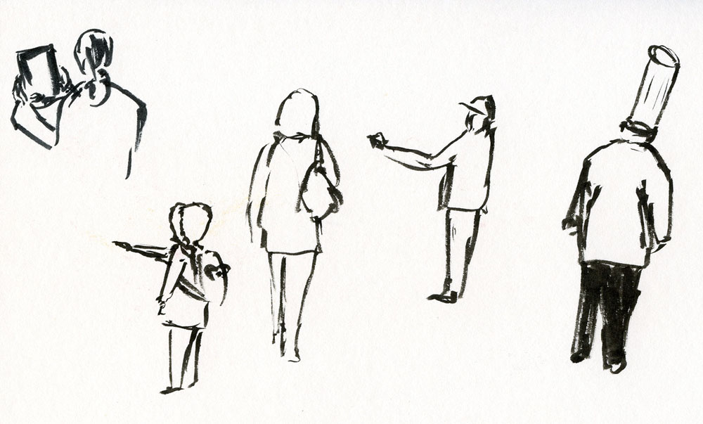 Bimoji Brush Pen on 140lb watercolor paper
