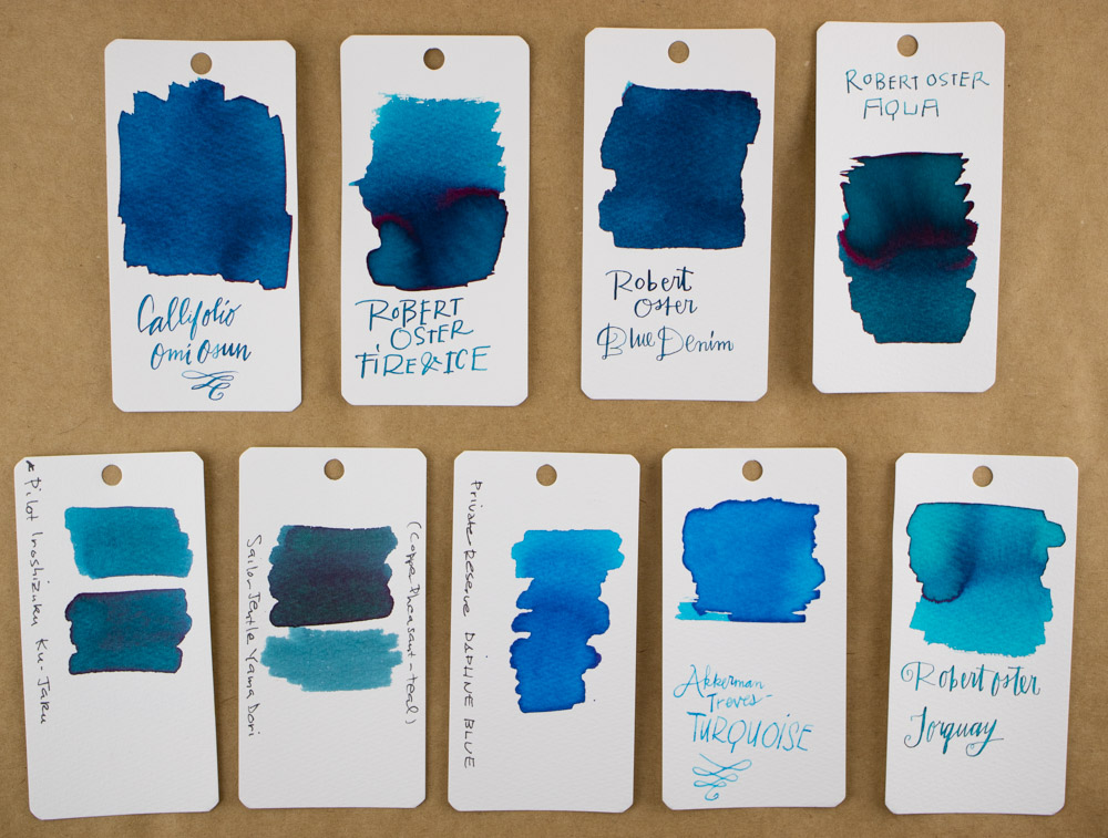 Robert Oster Fire & Ice Ink Swab comparison