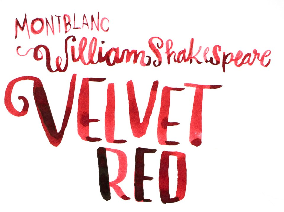 Ink Review: Montblanc William Shakespeare Velvet Red