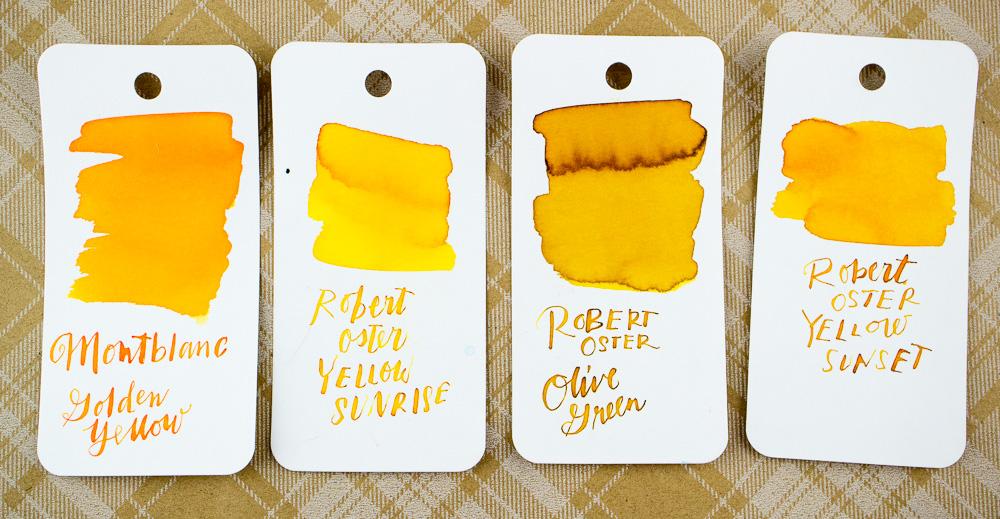 Montblanc Golden Yellow Swatch Comparison