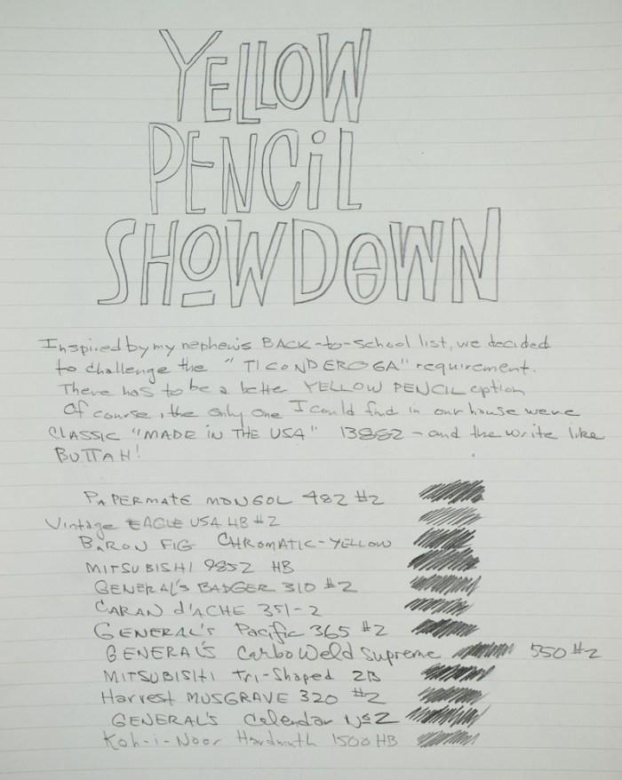 Yellow Pencil writing sample 1