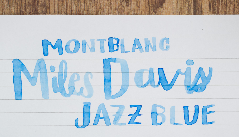 Ink Review: Montblanc Mile Davis Jazz Blue