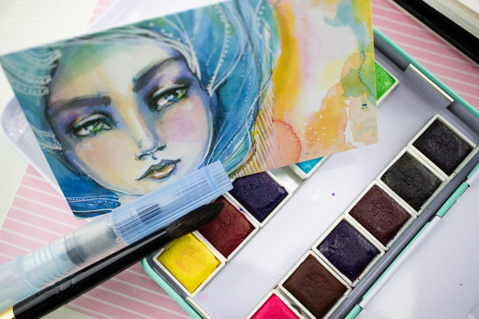 Product Review: Jane Davenport Petite Palette Watercolor Set in Brights