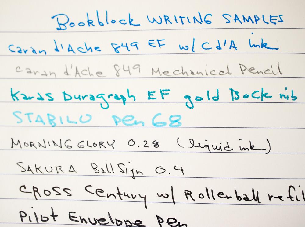 Bookblock Weskin writing samples