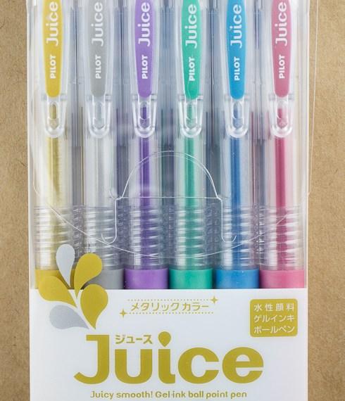 Pen Review: Pilot Juice 6-Color Metallic & Pastel Sets (with Bonus White Gel Pen Comparison)