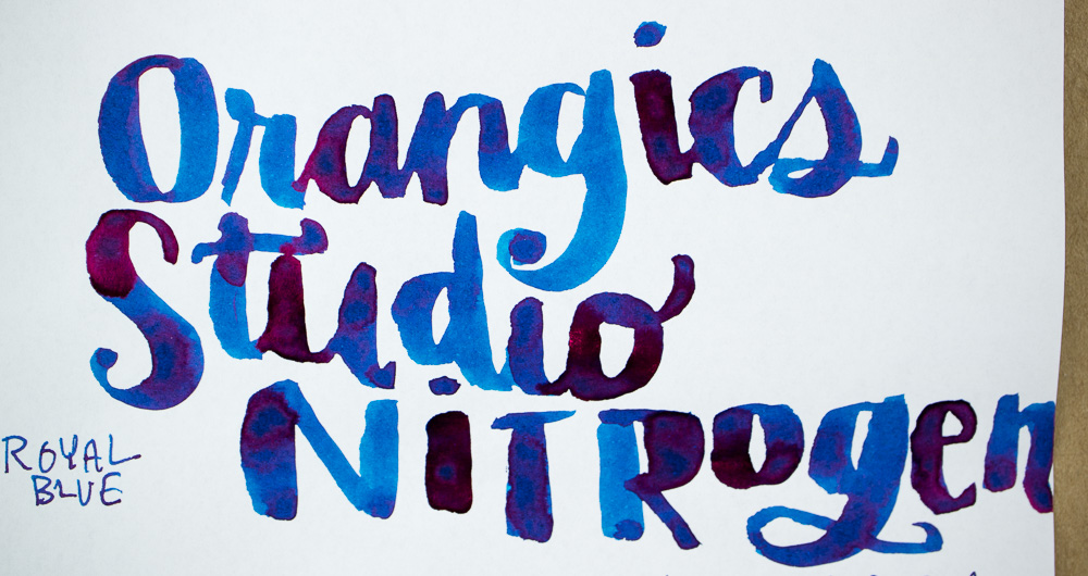 Ink Review: Organics Studio Nitrogen Royal Blue