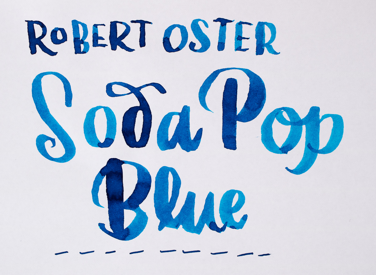 Ink Review: Robert Oster Soda Pop Blue
