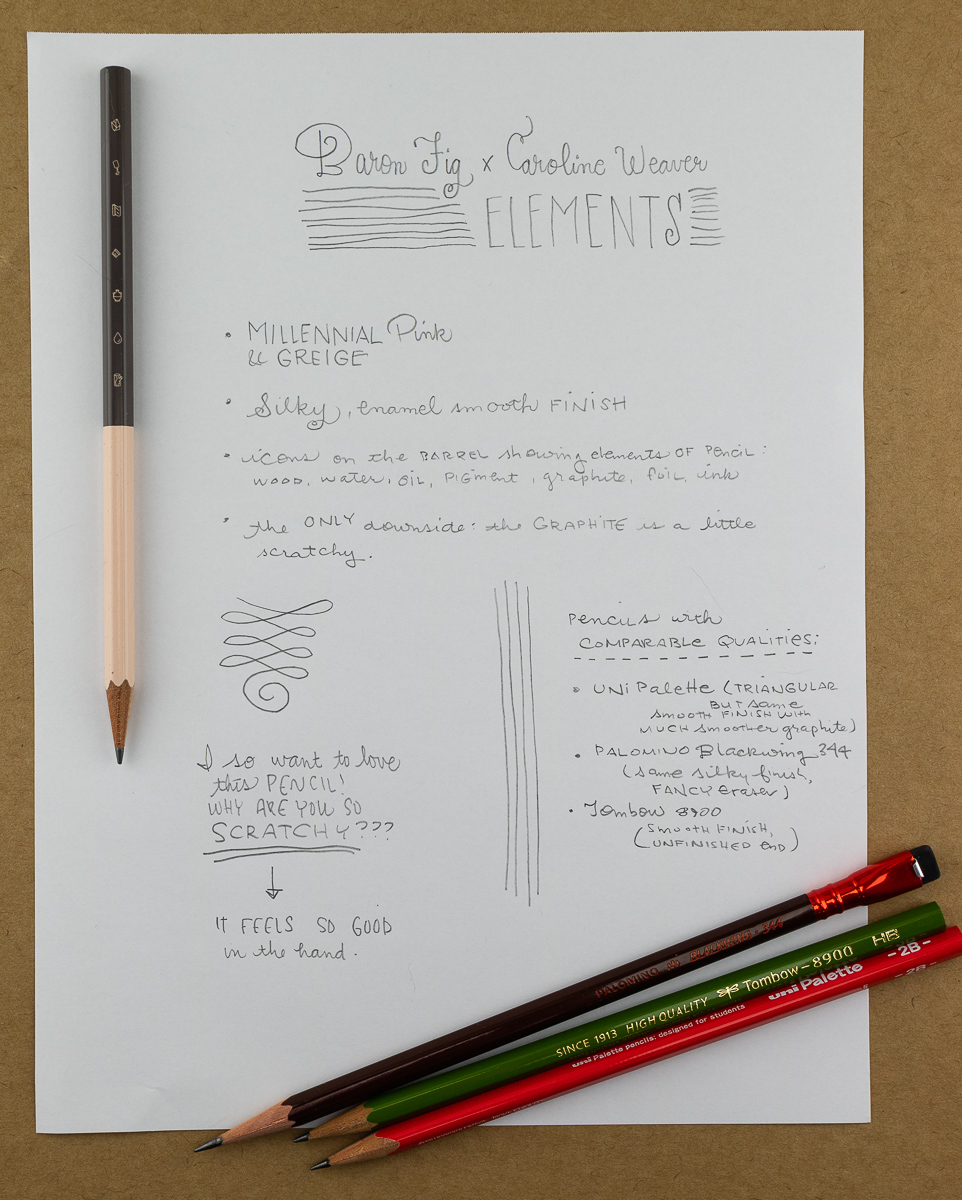 Baron Fig x Caroline Weaver Elements Writing Sample