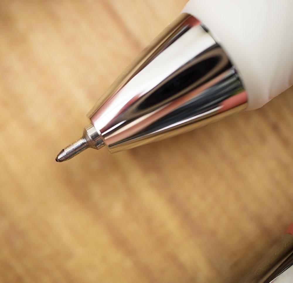 Pentel EnerGel Clena Gel Pen tip close-up