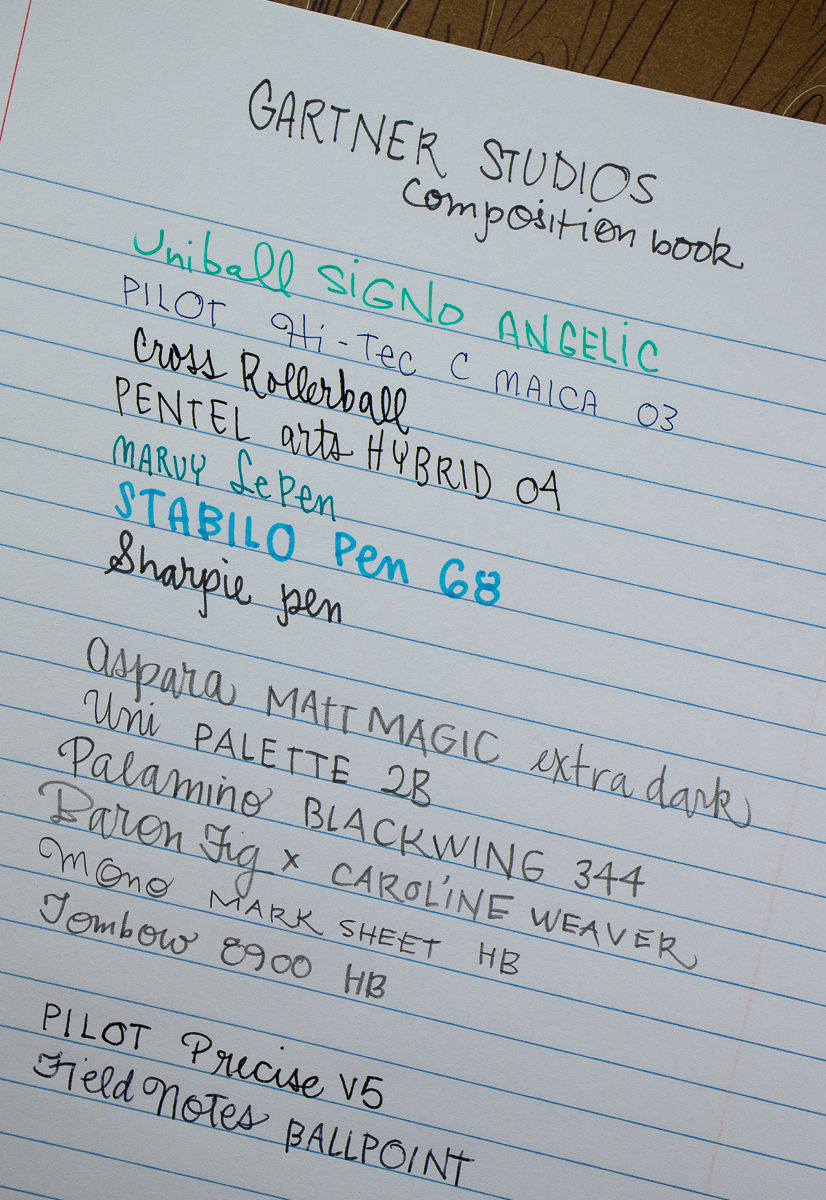 Gartner Composition Book