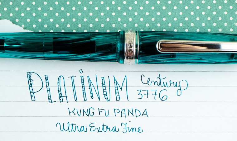 Platinum 3776 Kumpoo UEF Fountain Pen (AKA The Kung Fu Panda)