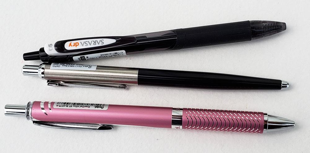 1 - 3 Dry Gel Pen contenders
