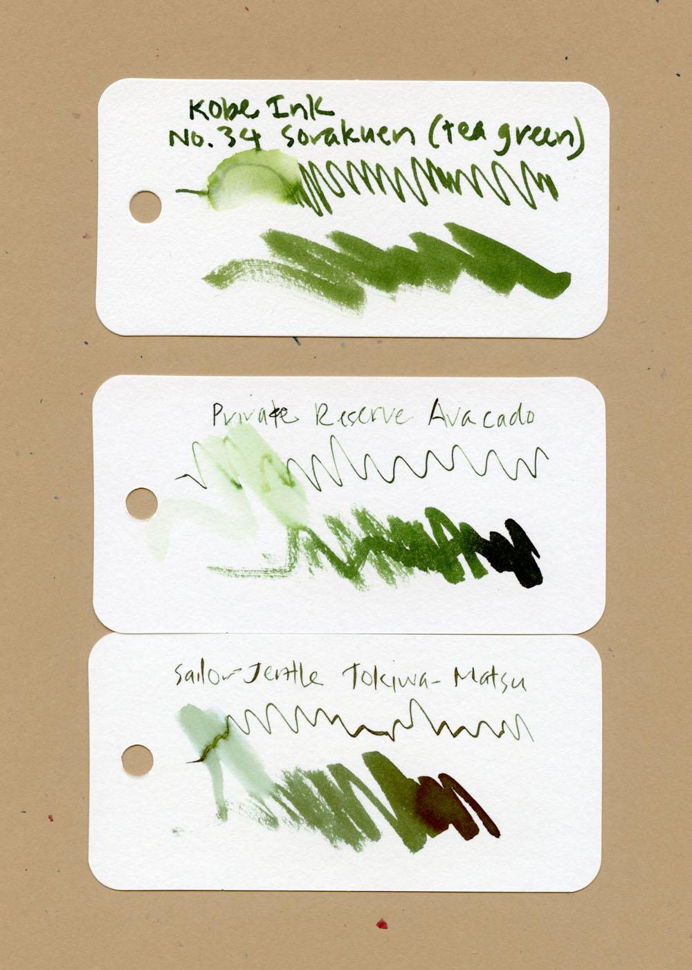 Sorakuen color comparisons