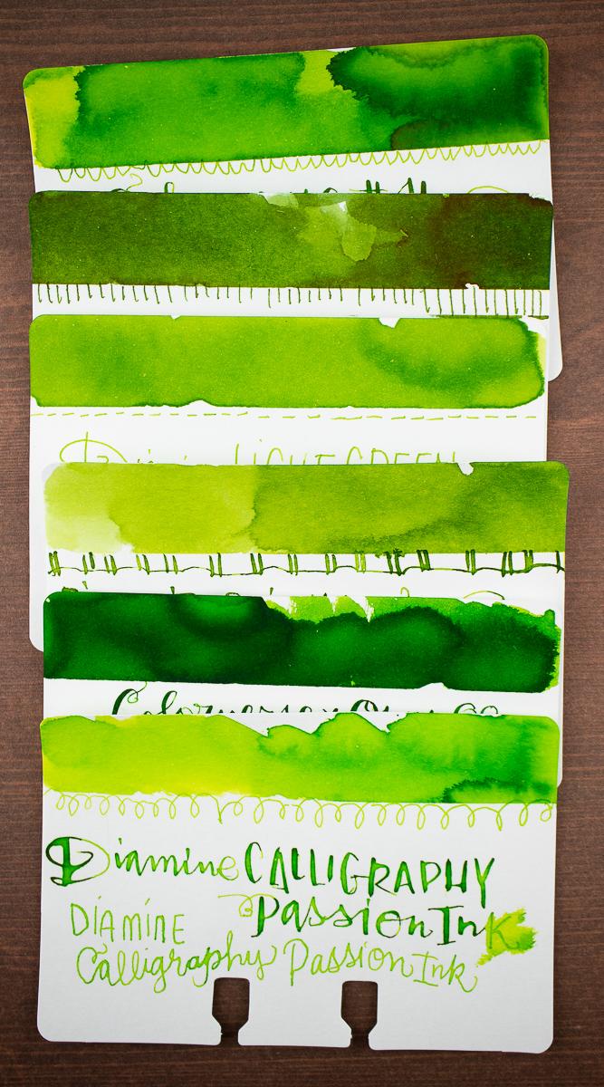 Taccia Uguisa Olive Green comparison
