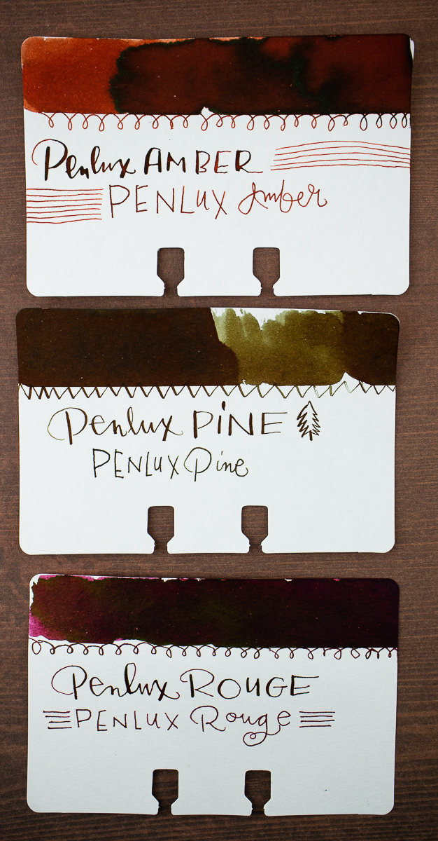 Pen Lux Ink Swatches