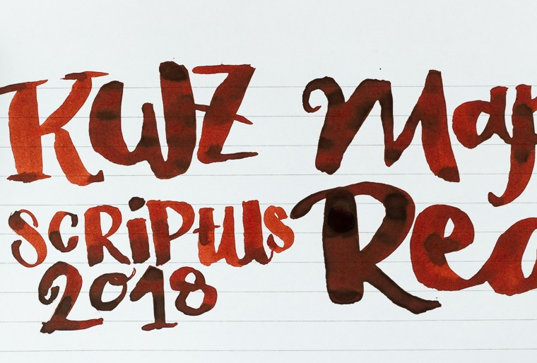 Inkmas Day 8: KWZ Maple Red (Scriptus 2018 Exclusive)