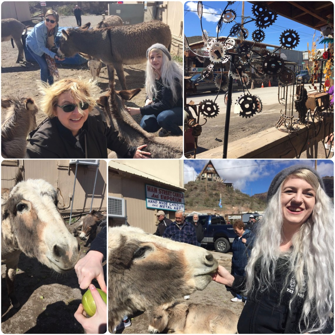 Lisa Vanness & Davina Darling at Oatman, AZ