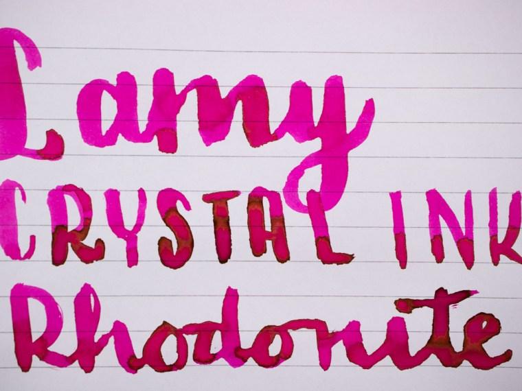 Ink Review: Lamy Crystal Rhodonite