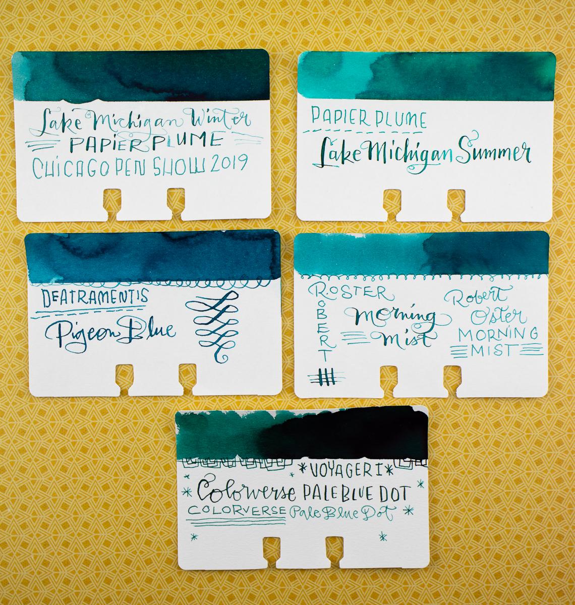 Papier Plume Lake Michigan Winter comparison