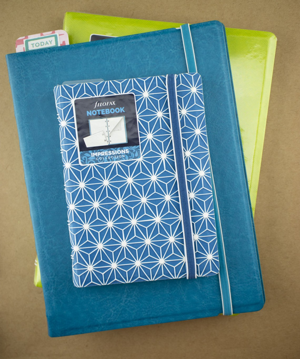 Filofax Notebook stack