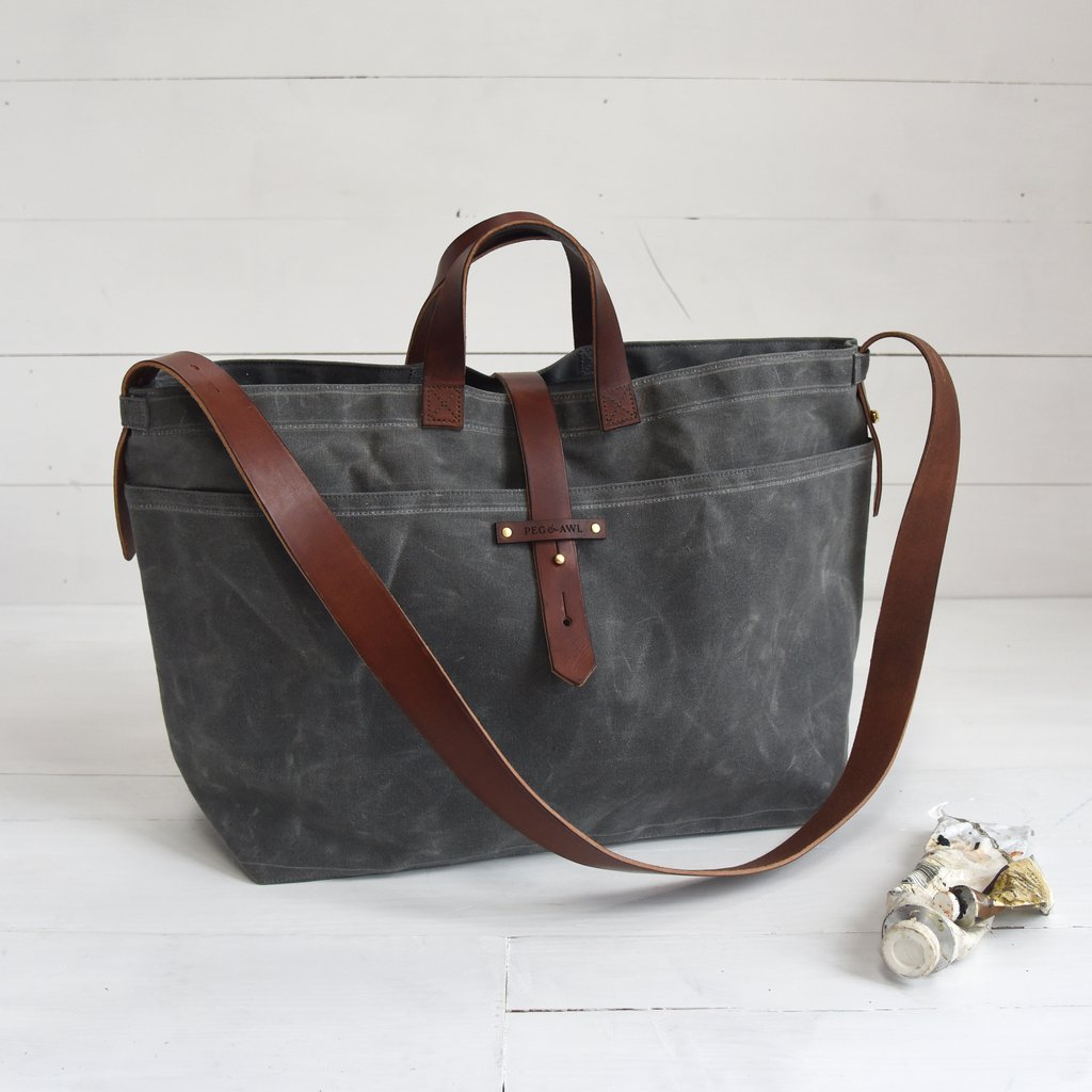 PEg & Awl Waxed Canvas Tote